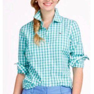 {Vineyard Vines} Green Gingham Button Down Shirt